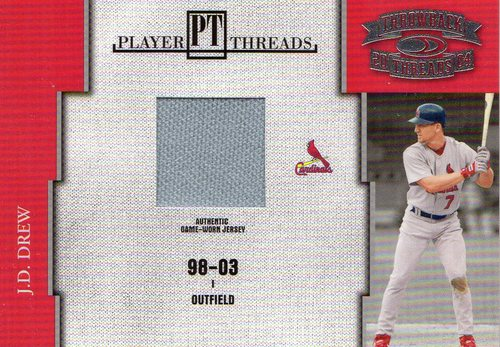 Photo of 2004 Throwback Threads Player Threads #27 J.D. Drew
