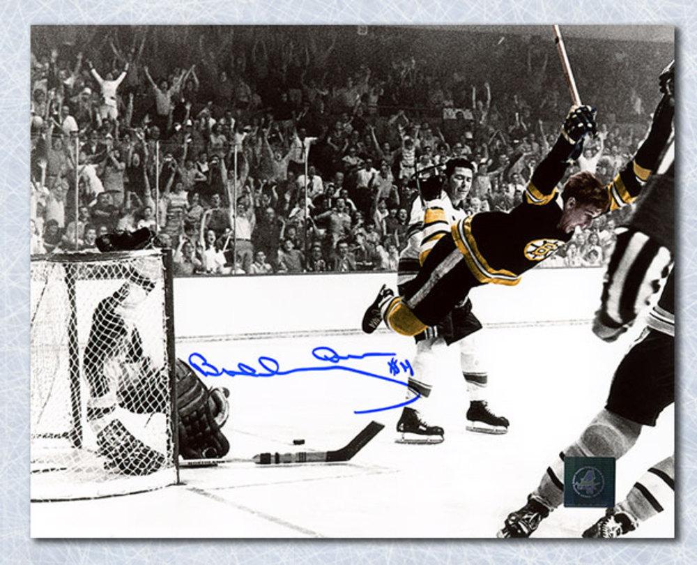 Bobby Orr Boston Bruins Autographed Spotlight Winning Goal 8x10 Photo: GNR COA