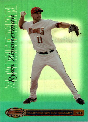 Photo of 2007 Bowman's Best Green #16 Ryan Zimmerman
