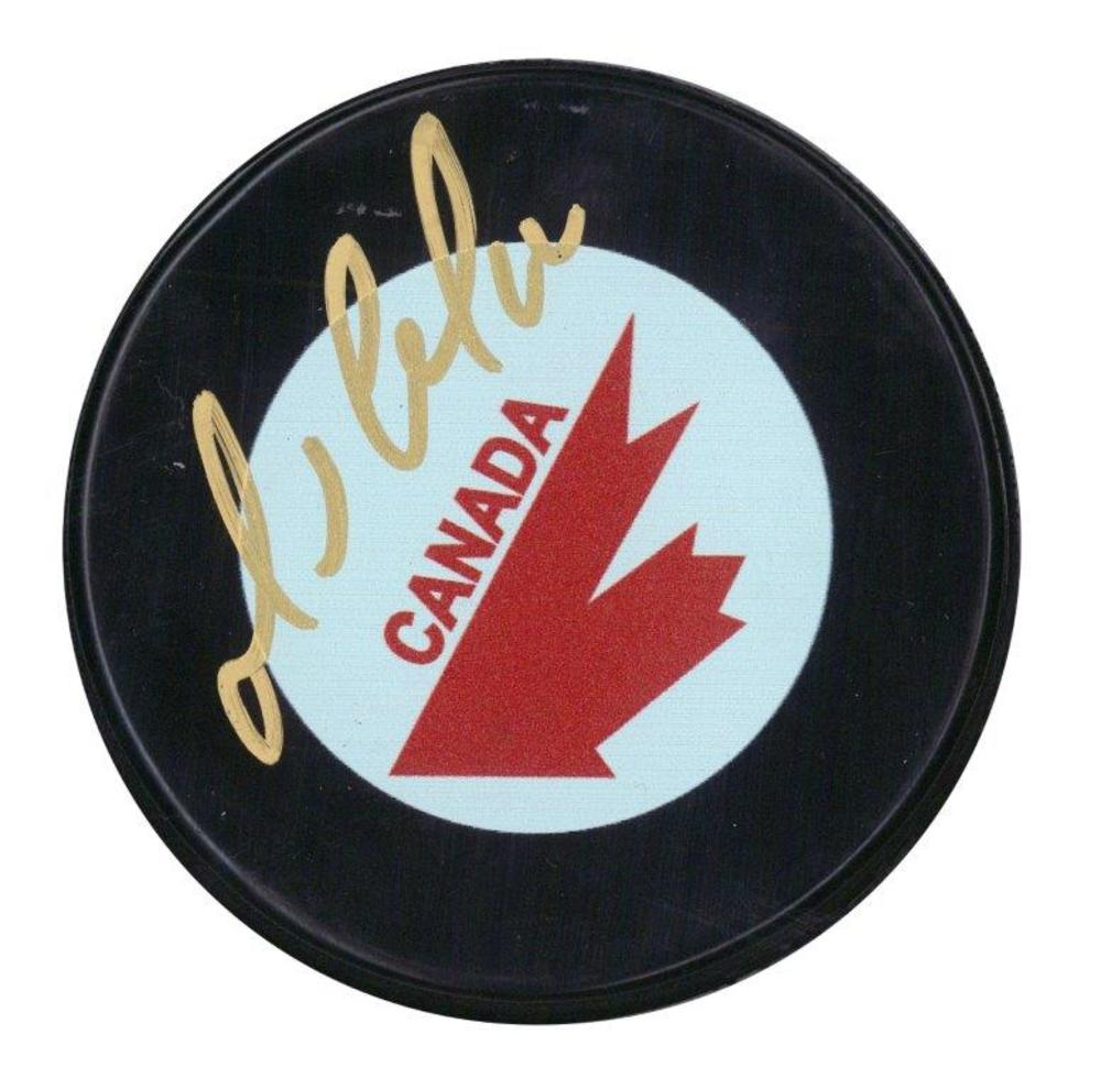 Mario Lemieux Signed Puck Canada Cup