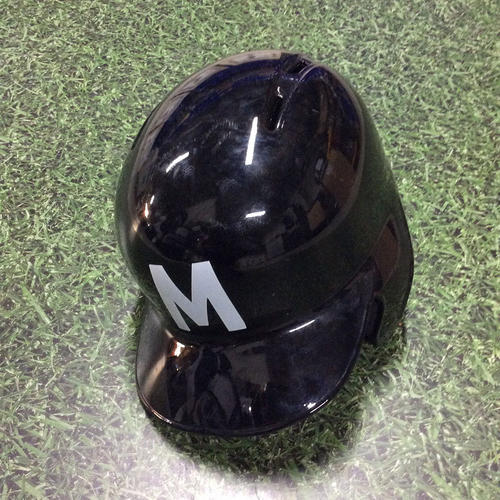 Photo of Hernan Perez 2018 Game-Used Memorial Day & Milwaukee Bears Batting Helmet