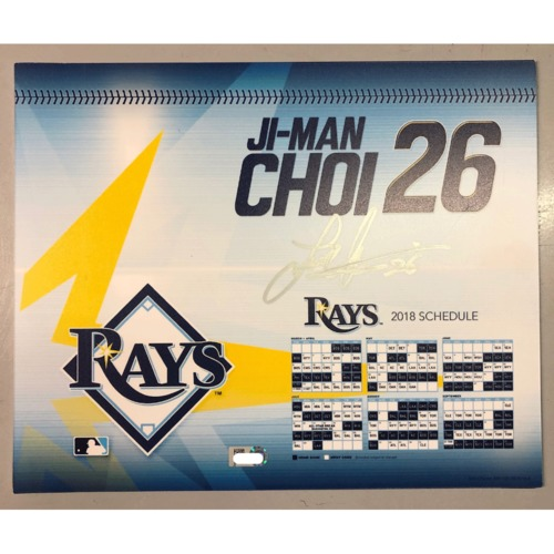 Photo of Game-Used Autographed Locker Tag: Ji-Man Choi