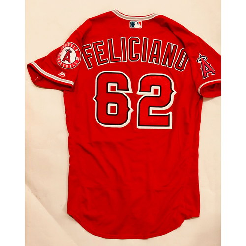 Photo of 2019 Mexico Series - Game-Used Jersey - Jesus Feliciano, Houston Astros at Los Angeles Angels - 5/4/19