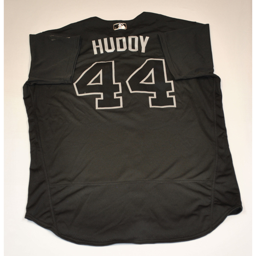 "Photo of Daniel ""HUDDY"" Hudson Washington Nationals Game-Used 2019 Players' Weekend Jersey"