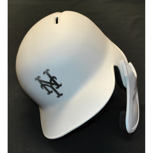 "Photo of Amed ""ROSIE"" Rosairo New York Mets Game-Used 2019 Players' Weekend Helmet"