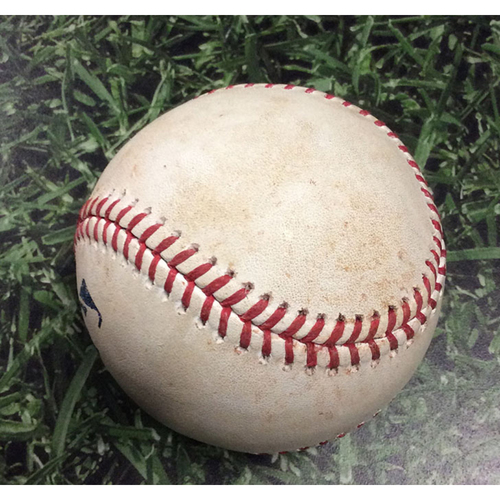 Photo of Game-Used Baseball CHC@MIL 09/06/19 - Cole Hamels - Yasmani Grandal: Single