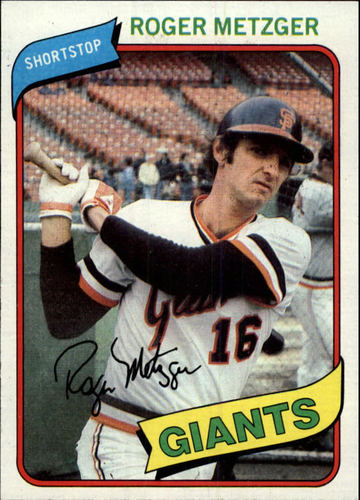 Photo of 1980 Topps #311 Roger Metzger