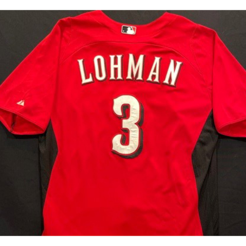 Photo of LOHMAN -- Authentic Reds Jersey -- $1 Jersey Auction -- $5 Shipping -- Size 46 (Not MLB Authenticated)