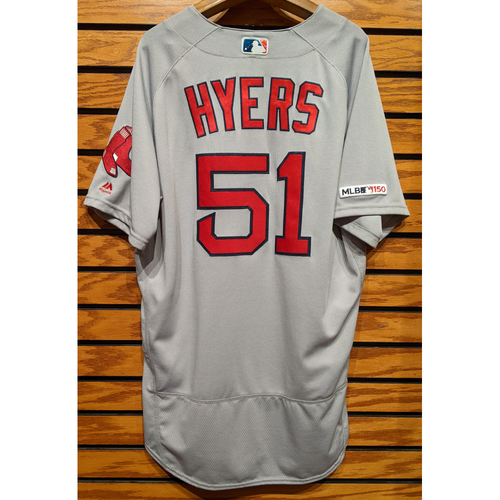 Photo of Coach Tim Hyers #51 Team Issued Road Gray Jersey