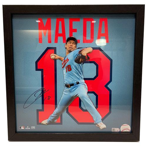 "Photo of Minnesota Twins Kenta Maeda Autographed 13""x13"" Uniframe"