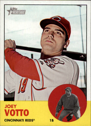 Photo of 2012 Topps Heritage #90A Joey Votto