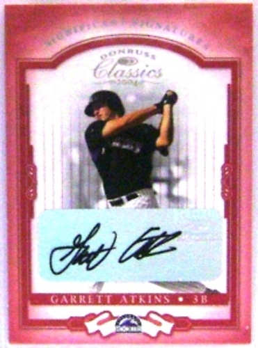 Photo of 2004 Donruss Classics Significant Signatures Red #74 Garrett Atkins/245