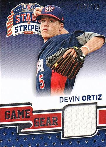 Photo of 2015 USA Baseball Stars and Stripes Game Gear Materials #31 Devin Ortiz/299