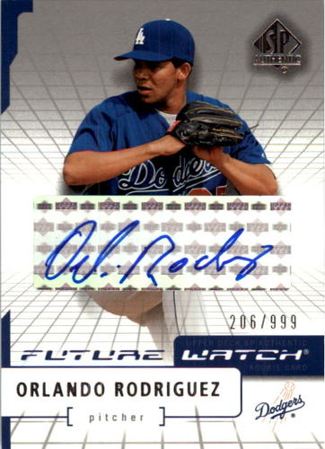 Photo of 2004 SP Authentic Future Watch Autograph #178 Orlando Rodriguez FW