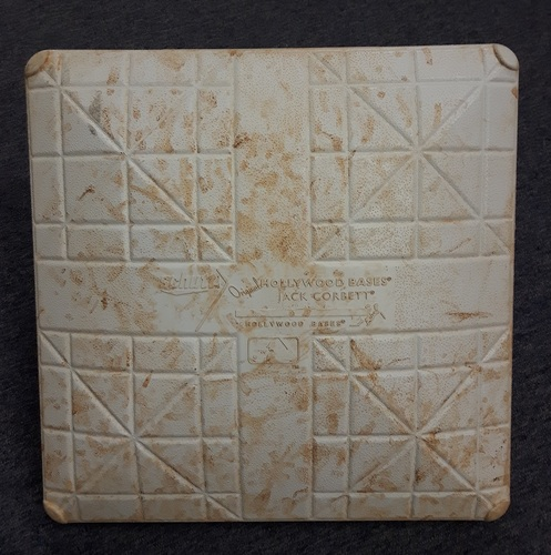 Authenticated Game Used Base - September 24, 2017 (Final Home Game of 2017 Season). 1st Base for Innings 4, 7-9.