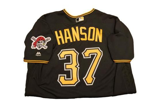 Photo of #37 Alen Hanson Game-Used Black Alternate Jersey - Worn on 4/24/17