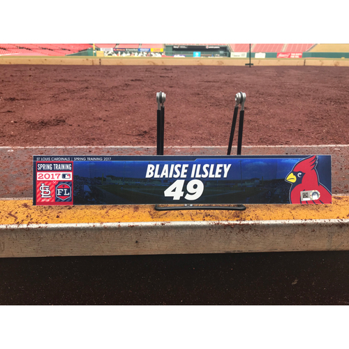 Photo of Cardinals Authentics: Blaise Ilsley Team-Issued Spring Training Locker Tag