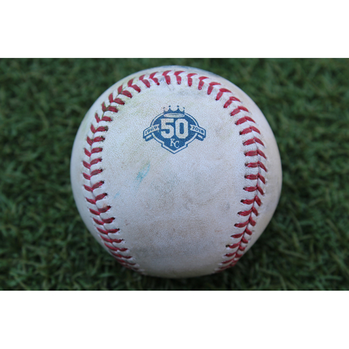 Photo of Game-Used Baseball: J.D. Martinez 910th Career Hit (BOS at KC - 7/6/18)