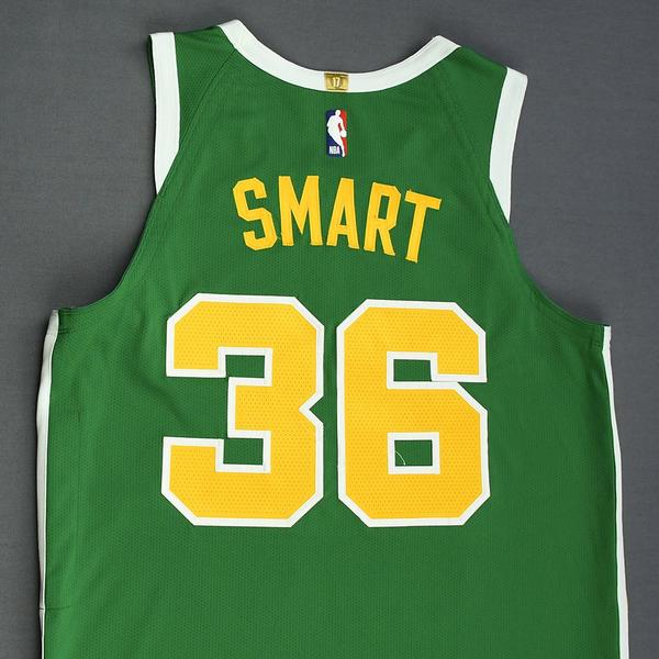 Marcus Smart - Boston Celtics - Christmas Day  18 - Game-Worn Earned ... e5c6ae43c