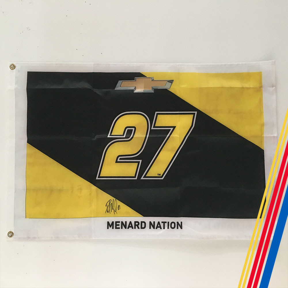 NASCAR's Paul Menard Autographed Flag!