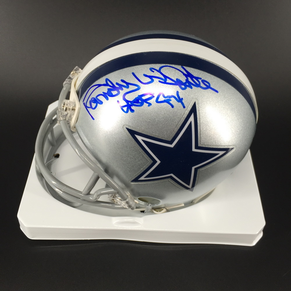 HOF - Cowboys Randy White Signed Mini Helmet