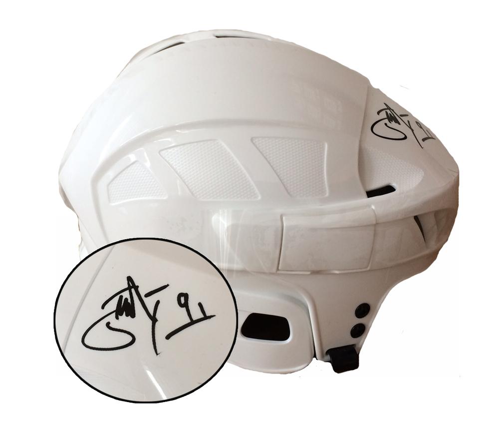 John Tavares Signed Helmet Leafs White CCM