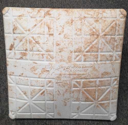 Photo of Authenticated Game Used Base - Opening Day 2019 vs Detroit Tigers (Mar 28, 19). 1st Base for Innings 7 to 9. Stroman and Zimmermann each had 7 shutout innings
