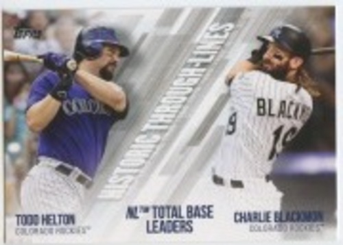 Photo of 2019 Topps Historic Through Lines #HTL43 Charlie Blackmon/Todd Helton
