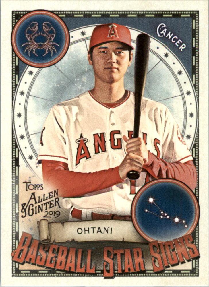 2019 Topps Allen and Ginter Baseball Star Signs #BSS16 Shohei Ohtani