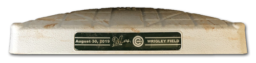 Photo of Game-Used 3rd Base -- Used Innings 5 though 9 -- 8/30/19 -- Brewers vs. Cubs