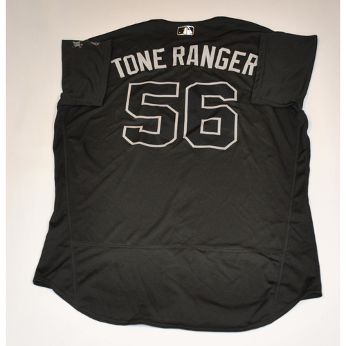 "Photo of Tony ""Tone Ranger"" Watson San Francisco Giants Game-Used 2019 Players' Weekend Jersey"
