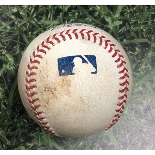 Photo of Game-Used Baseball SD@MIL 09/16/19 - Zach Davies - Wil Myers: Strikeout