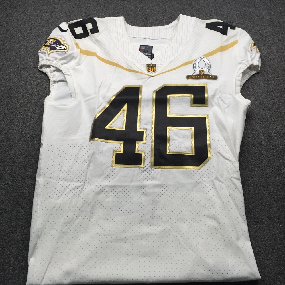 NFL Auction | NFL - Ravens Morgan Cox Game Issued January 2016 Pro ...
