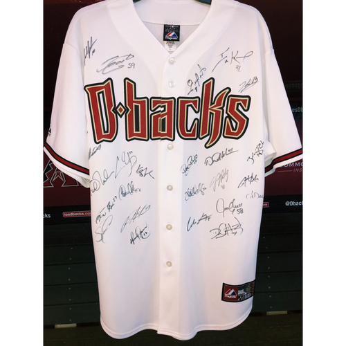 Photo of Team Signed Jersey featuring JJ Putz, Chris Young, Justin Upton, Miguel Montero, and more