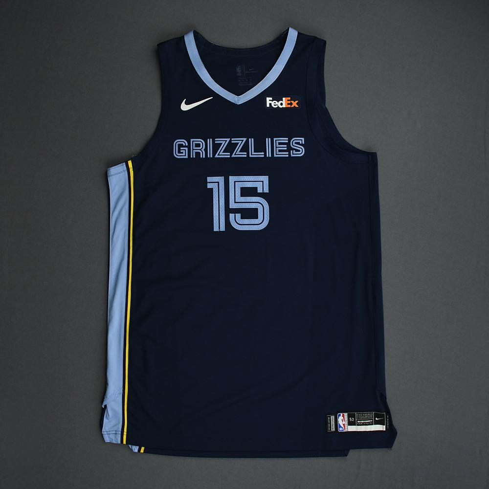 Brandon Clarke - Memphis Grizzlies - Game-Worn Icon Edition Rookie Debut Jersey - Opening Night 2019-20 Season