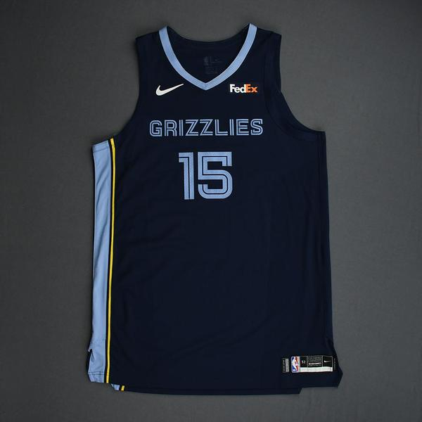 Image of Brandon Clarke - Memphis Grizzlies - Game-Worn Icon Edition Rookie Debut Jersey - Opening Night 2019-20 Season