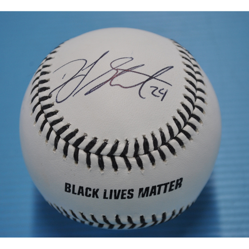 Photo of MLB Opening Day Auction Supporting The Players Alliance - Autographed Black Lives Matters Baseball - #24 DJ Stewart.