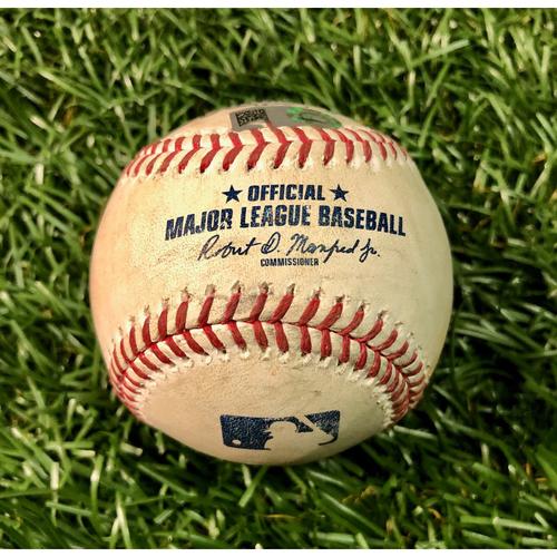 Photo of Game Used Baseball: Danny Jansen RBI single off Trevor Richards - Danny Jansen's First RBI of Season - July 26, 2020 v TOR
