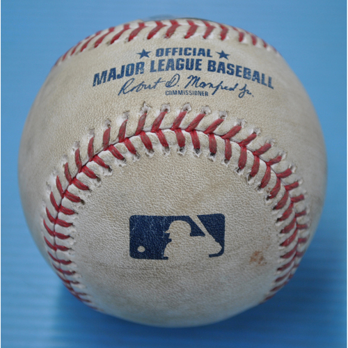 Photo of Game-Used Baseball - DET at PIT - 8/7/2020 - Pitcher - Buck Farmer (DET), Batter - Bryan Reynolds, Bot 8, Single
