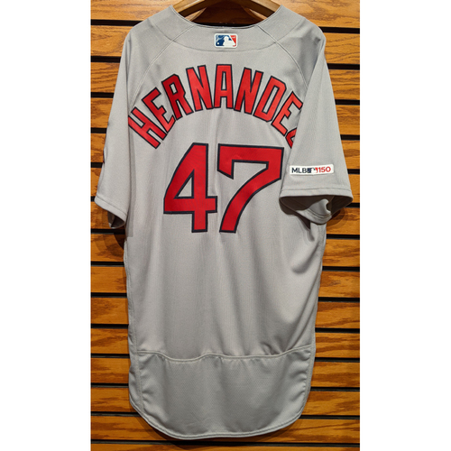 Photo of Gorkys Hernandez #47 Team Issued Road Gray Jersey