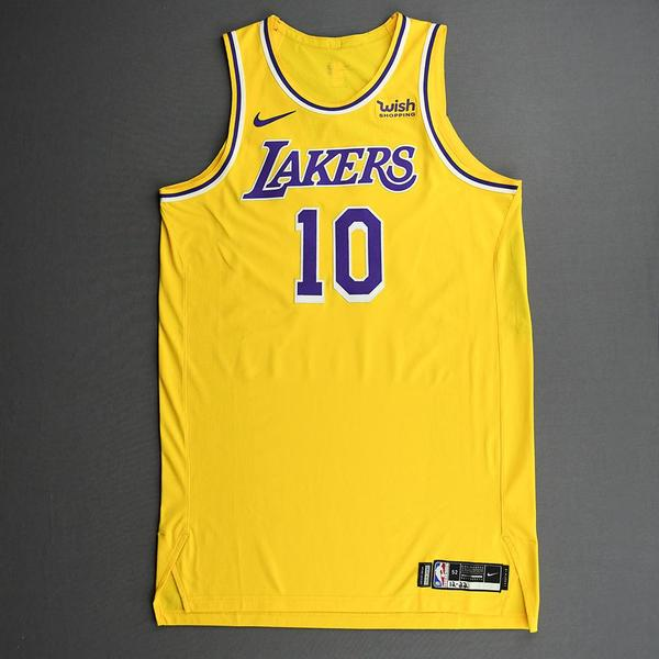 Image of Jared Dudley - Los Angeles Lakers - Kia NBA Tip-Off 2020 - Game-Worn Icon Edition Jersey - Dressed, Did Not Play (DNP)