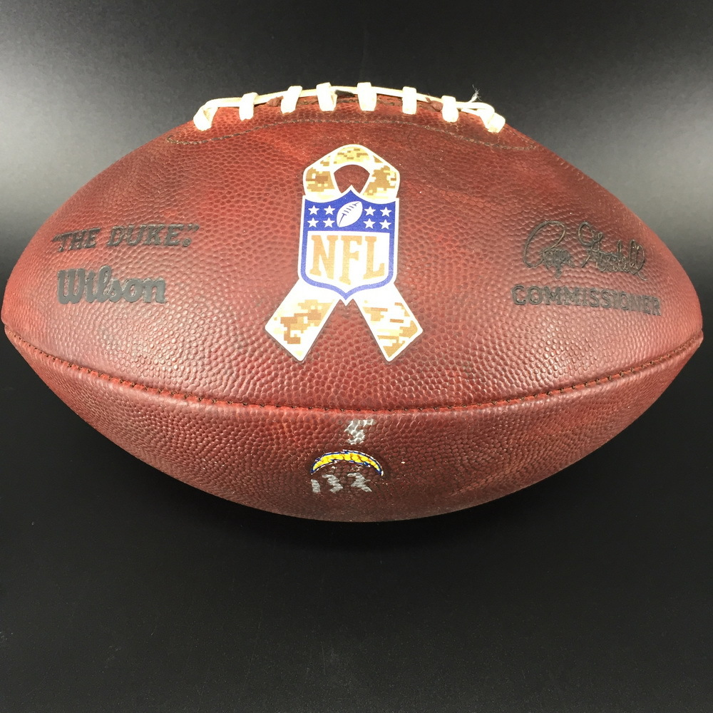 STS - Chargers Game Used Football (11/8/17)