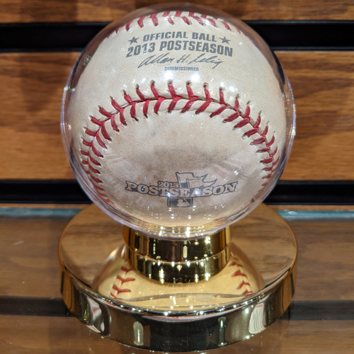 Photo of 2013 ALCS Game 1 October 12, 2013 Red Sox vs. Tigers Game Used Baseball Anibal Sanchez to David Ortiz