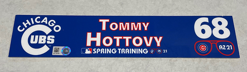Photo of Tommy Hottovy 2021 Spring Training Locker Nameplate
