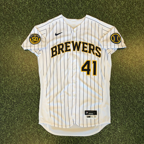 Photo of David Phelps 2020 Team-Issued Home Pinstripe Jersey