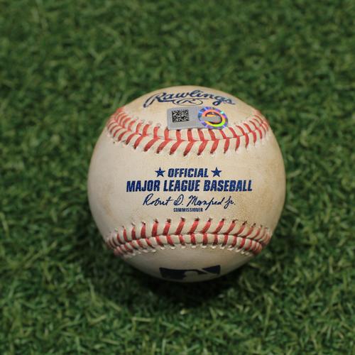 Photo of Game-Used Baseball: John King 10th Career Strikeout (TEX@KC 4/3/21)