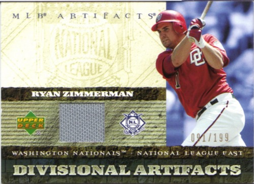 Photo of 2007 Artifacts Divisional Artifacts #RZ Ryan Zimmerman