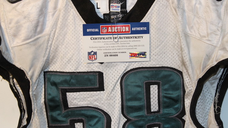 NFL Auction | EAGLES TRENT COLE GAME WORN JERSEY (OCTOBER 2013)
