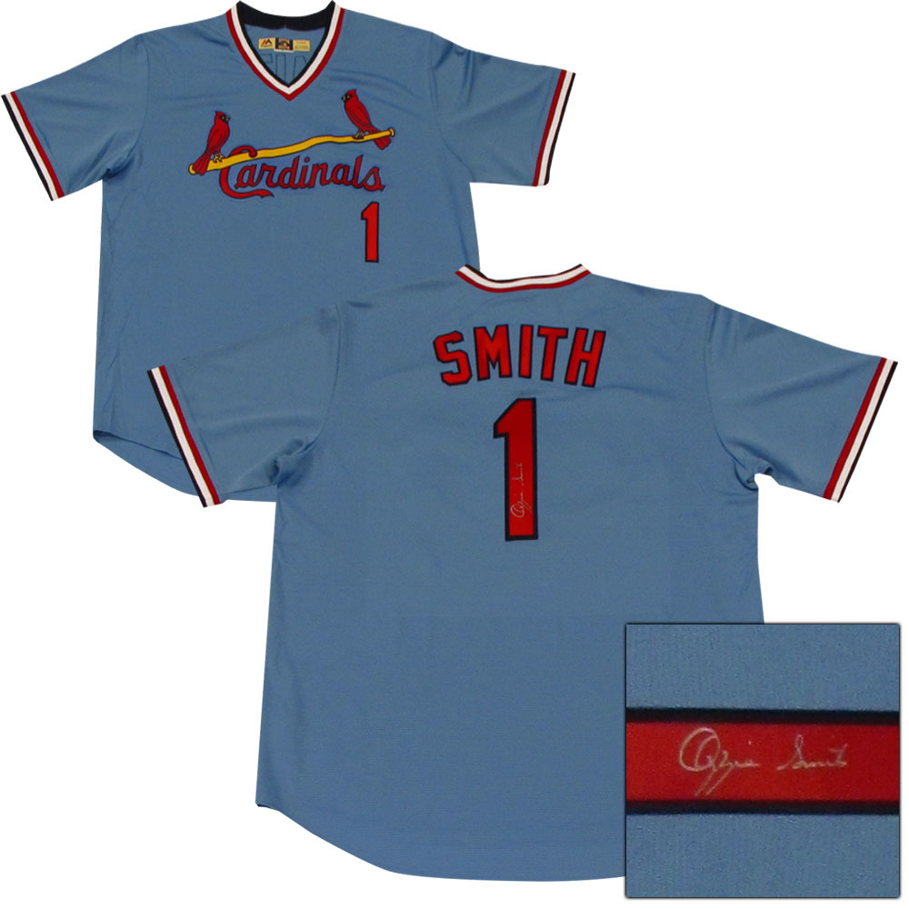 new york e5b61 6c1ae Ozzie Smith Autographed St. Louis Cardinals Jersey - NHL ...