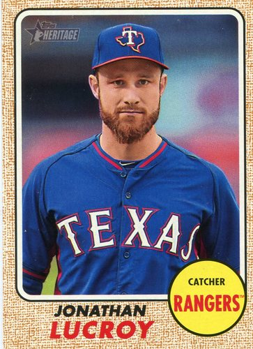 Photo of 2017 Topps Heritage #228 Jonathan Lucroy -- Rockies post-season